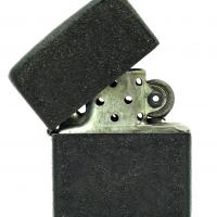 1943-45 Zippo Lighter WWII Black Crackle 3 Barrel Hinge