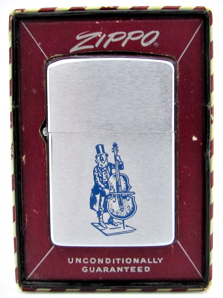 1961 Zippo With Unusual Upright Bass Player Graphics.JPG