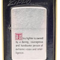 1974 Zippo Lighter with Great Saying