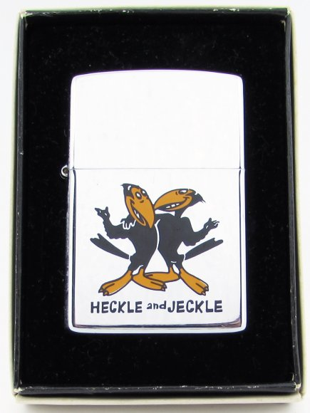 1981 High Polish Zippo Lighter Cartoon Heckle & Jeckle Prototype.JPG