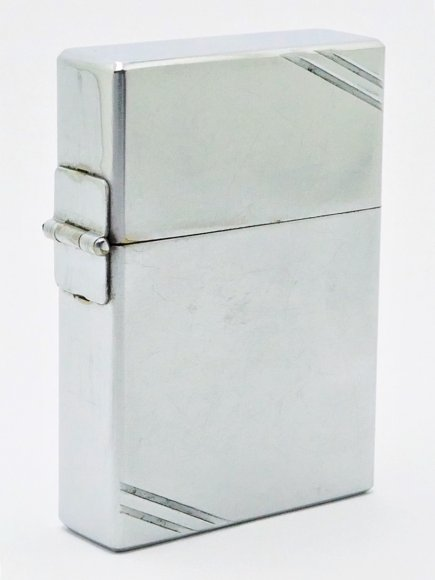 1933-34 3 Barrel Outside Hinge Zippo with Earlier Overhand Rolled Hinge.