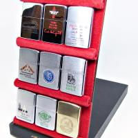 1960 Zippo Flip Open Hinged Salesman Display Case.JPG