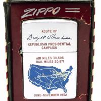 1952 Zippo Lighter Town & Country Eisenhower Presidential Campaign