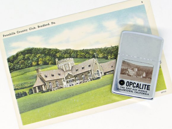 1962 Paul Hajdu Experimental Photo Zippo with Image of Pennhills Country Club in Bradford..JPG