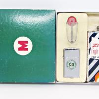 1959 Zippo Slim Gift Set - Moore McCormack in Custom Printed Box.JPG