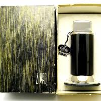 1960-66 Zippo Black Moderne Table Lighter Unused in Box