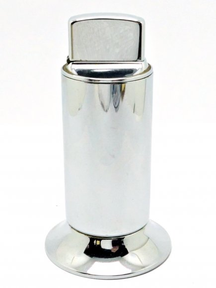 1960 Zippo Moderne Table Lighter with Test Finish - High Polish Chrome